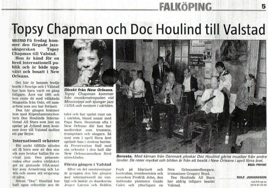 Valstad med Topsy Chapman